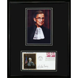 **WOW! Ruth Bader Ginsburg Signed Autographed FD Cachet Framed w/Photo JSA LOA**