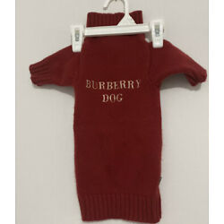 Burberry 100% Cashmere Dog Sweater  Size M