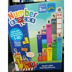 Number Blocks. 65 Multi-Click & connect Numberblocks + face stickers & stand