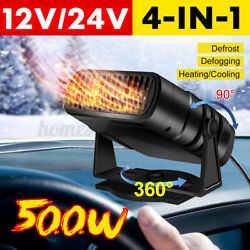 Portable Auto Heater Defroster DC 12/24 Car Heating Electric Travel Vehicle Fan