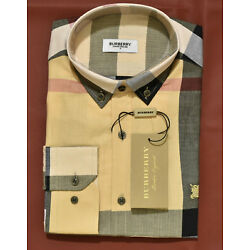 Brand New With Tags Men's BURBERRY Long Sleeve Slim Fit Shirt