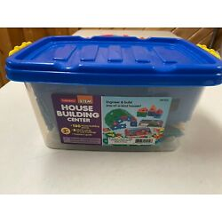 LAKESHORE EDUCATIONAL PRODUCT STEM SCIENCE HOUSE BUILDING SET W CONTAINER