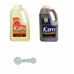 Karo Light and Dark Corn Syrup Value Pack, 1 Gallon Each, with Gourmaestro 4...