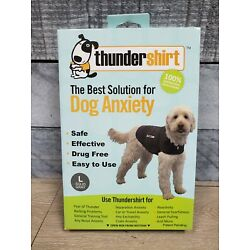 Thundershirt for Dog Anxiety Large Solid Gray D3