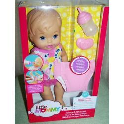 Fisher Price Little Mommy Drink & Wet 12'' Baby Doll New