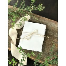 Deckled Edge Paper Hand Torn Great for invitations, Menus, Table Number