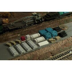 20 pc N Scale Details Pipes Bricks, Lumber and more B