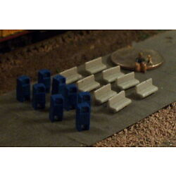 16pc Park or Bus Stop Benches and Mail Boxes N Scale