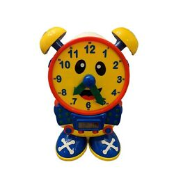 The Learning Journey Telly The Teaching Time Clock Primary Colors tested/working