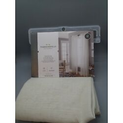 New Threshold Natural Linen Sheer Curtain Panel 54 X 84 One Panel