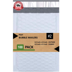 Sales4Less #2 Poly Bubble Mailers 8.5X12 Inches Padded Envelope Mailer Waterproo