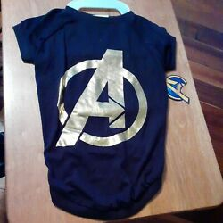 Marvel Comics Infinity Foil Badge Avengers Dog T-Shirt Large - NEW with Tags