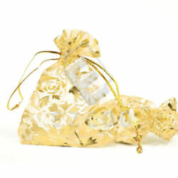 NEW SMALL ELEGANT Pouch Gift SWEETS EVENT Bag Gold Flower JEWELERY CANDY PARTY