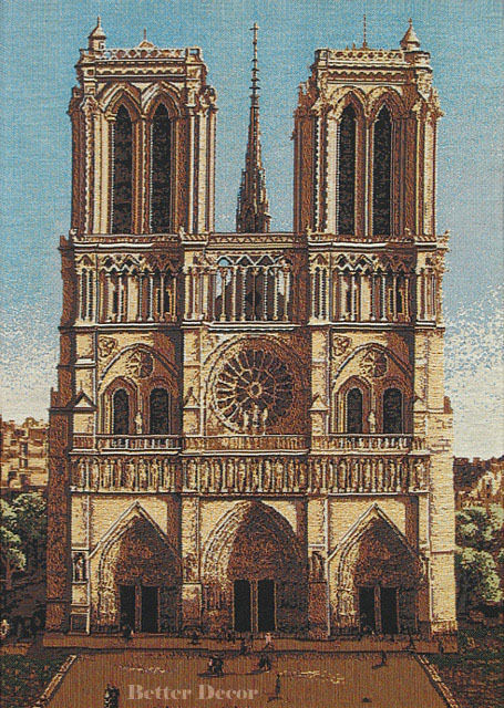 19 jacquard woven tapestry notre dame cathedral france