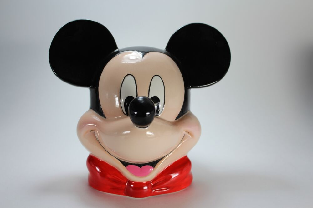 Mickey Mouse Bust Coin Bank Ceramic Rare Disney New Ebay