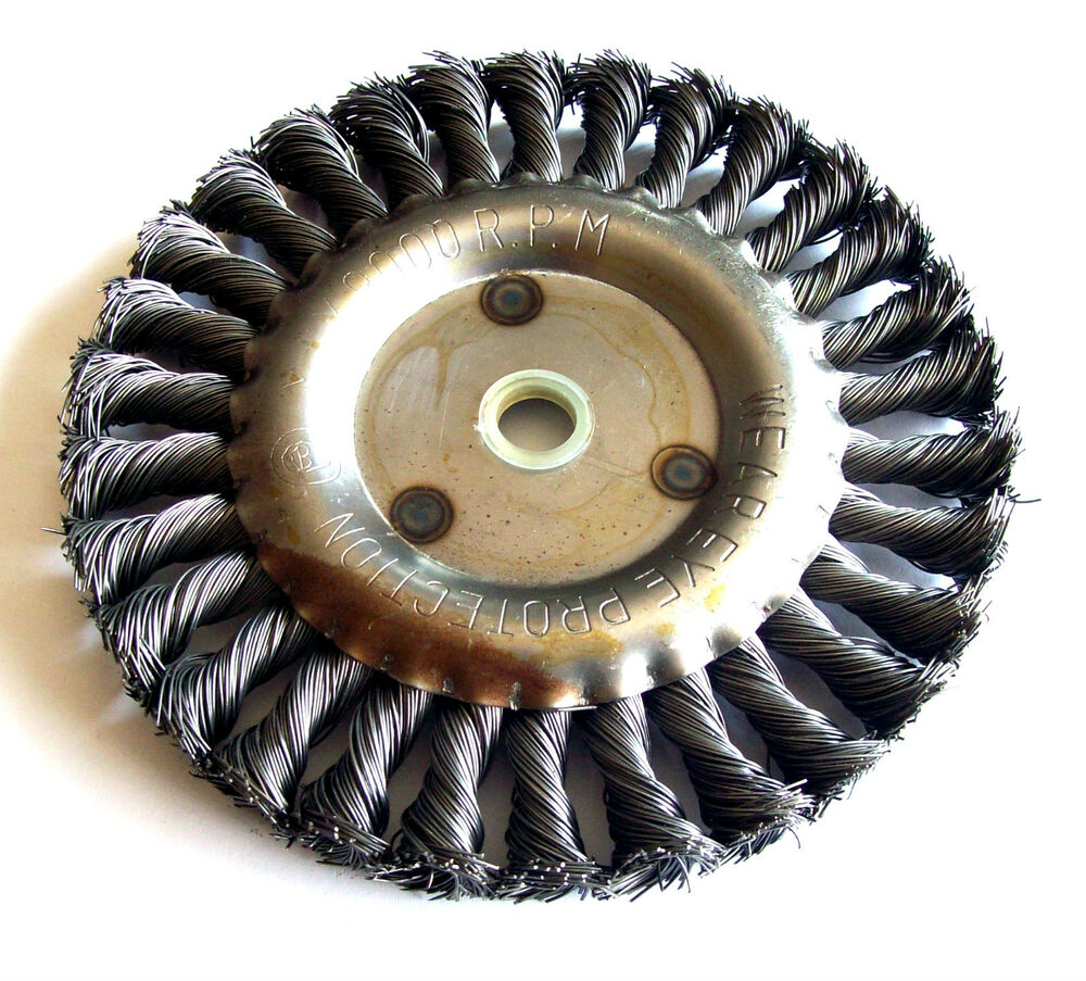 6 Quot Coarse Knotted Wire Wheel For Bench Grinder Ebay