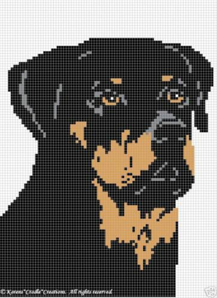 Crochet Patterns - ROTTWEILER afghan pattern eBay