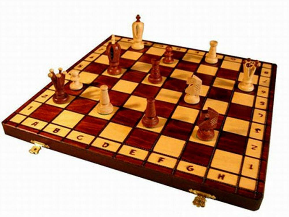 schach schachspiel chess kings 36 x 36 cm holz neu. Black Bedroom Furniture Sets. Home Design Ideas