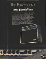 CRATE SPRINT CR-160 PINUP AD vtg 80's guitar combo amp