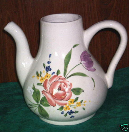 Hand painted ceramic pitcher italy ebay for Can ceramic be painted