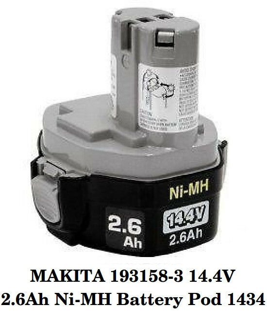 new makita 193158 3 14 4v 2 6ah ni mh battery pod 1434 ebay. Black Bedroom Furniture Sets. Home Design Ideas