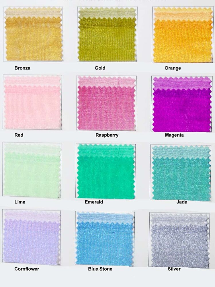 Iridescent organza sheer fabric 1y choice of color ebay for Sheer fabric