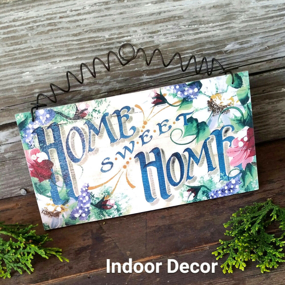 Home Sweet Home *DecoWords EXCLUSIVE! Cottage Roses WOODEN