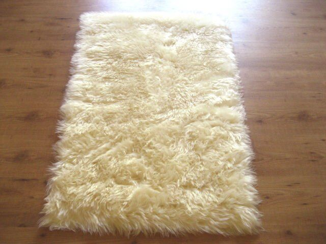 Ivory Faux Fur Sheepskin Rectangle Rug 2x4 Ebay