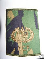 PAIR OF NEW DPM ARMY CADET FORCE ACF RQMS RANK SLIDES