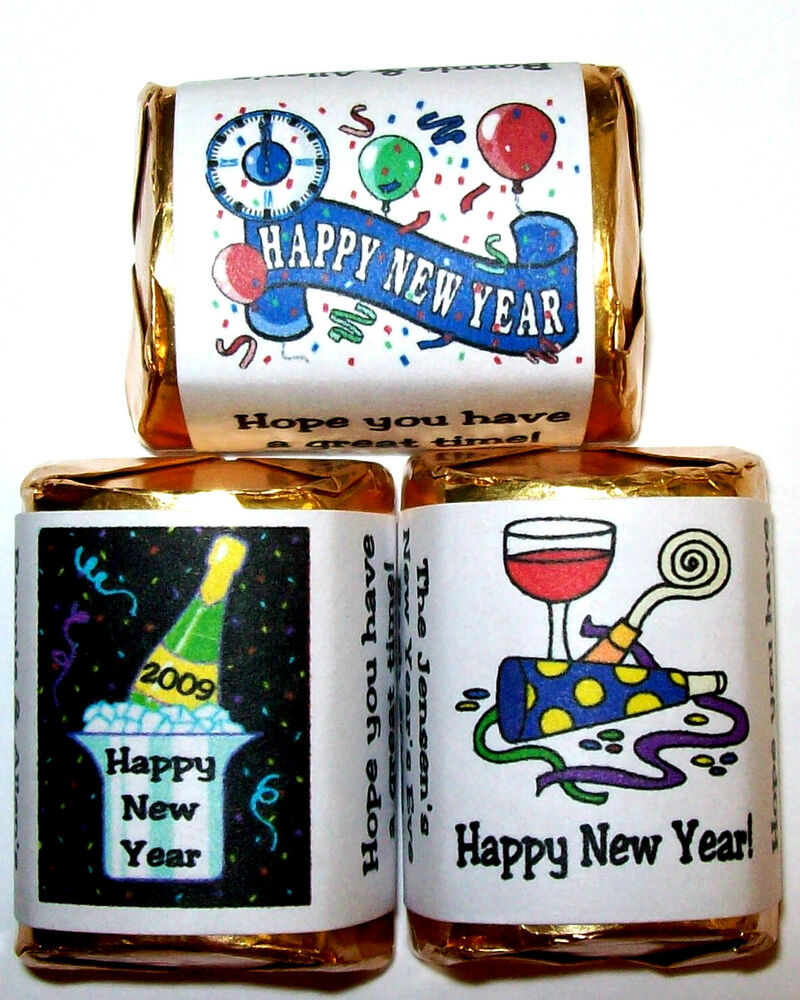 120 new years eve party favors candy wrappers ebay. Black Bedroom Furniture Sets. Home Design Ideas