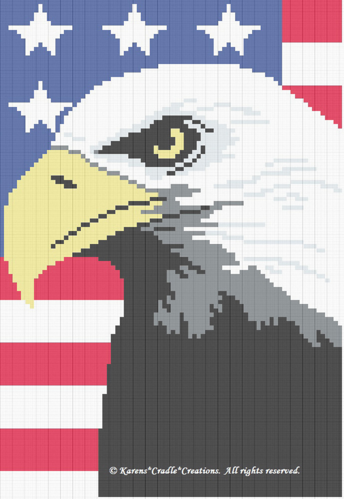 Crochet Pattern Patterns Eagle Color Graph Pattern Ebay