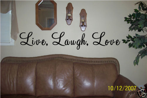 wall art vinyl letters live laugh love wall decor ebay. Black Bedroom Furniture Sets. Home Design Ideas