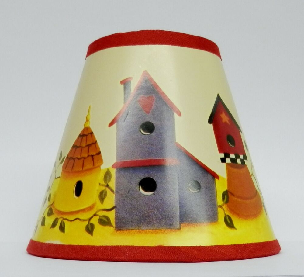 c kays birdhouse paper chandelier lamp shade multi color. Black Bedroom Furniture Sets. Home Design Ideas