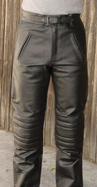 V Pilot Style Motorcycle Riding Touring Leather Pants Ebay