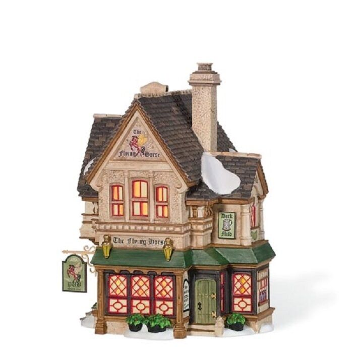 Dept 56 dickens 39 village the flying horse tavern new 4 for Department 56 dickens village most valuable