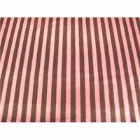 BROWN HOT PINK STRIPED CHARMEUSE SATIN FABRIC $6.99/YD