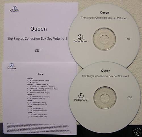 queen singles collection box set vol 1 cd acetates set ebay. Black Bedroom Furniture Sets. Home Design Ideas