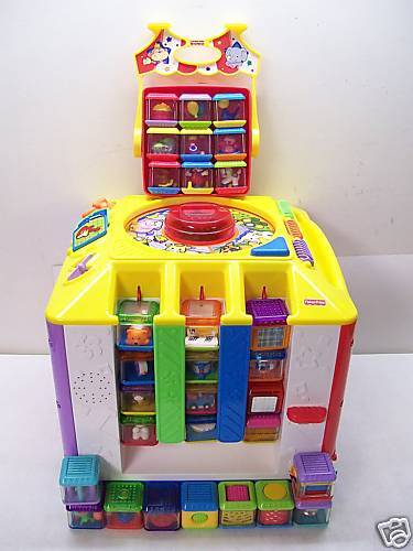 Fisher Price Incrediblock Cube Circus Peek A Blocks Lot Ebay