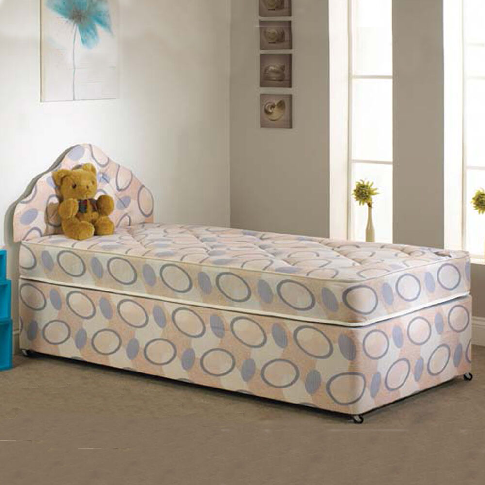 4ft divan bed three quarter small double deep quilted ebay Three quarter divan bed