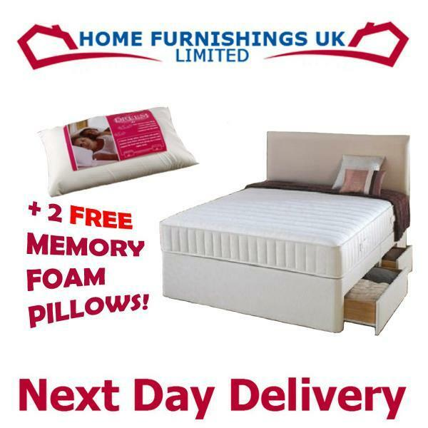 4ft Memory Foam Divan Bed Small Double Rrp 499 Freep P Ebay