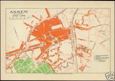 netherlands, ASSEN, City Town Detailed MAP Postcard | eBay