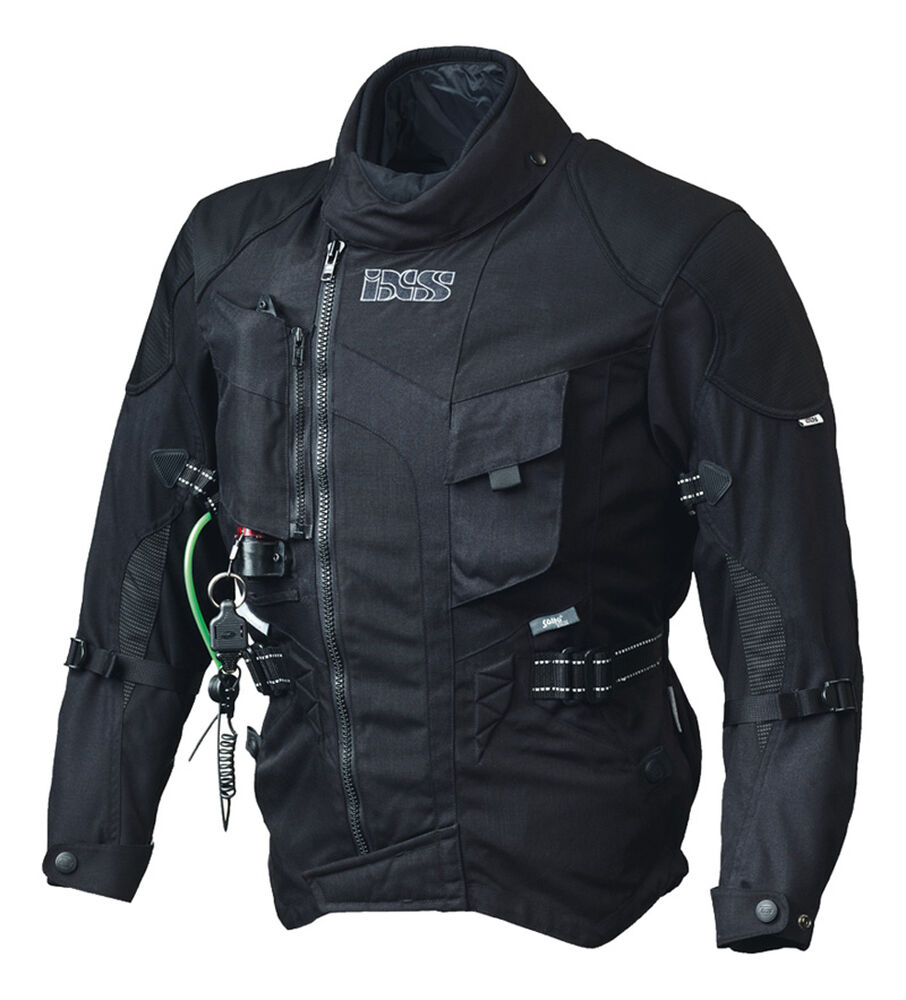 ixs motorrad jacke textiljacke stunt airbag gr m schwarz. Black Bedroom Furniture Sets. Home Design Ideas