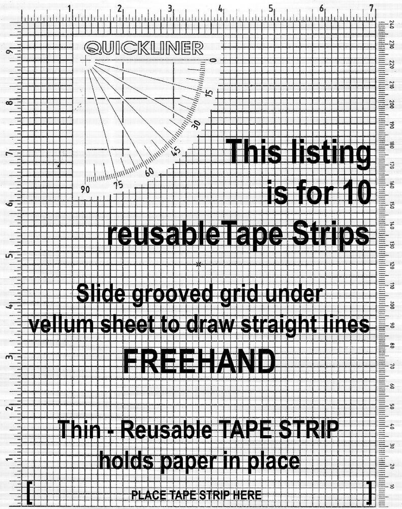 Drawing Lines Freehand : Tape strip refills for quick liner notebooks that draw