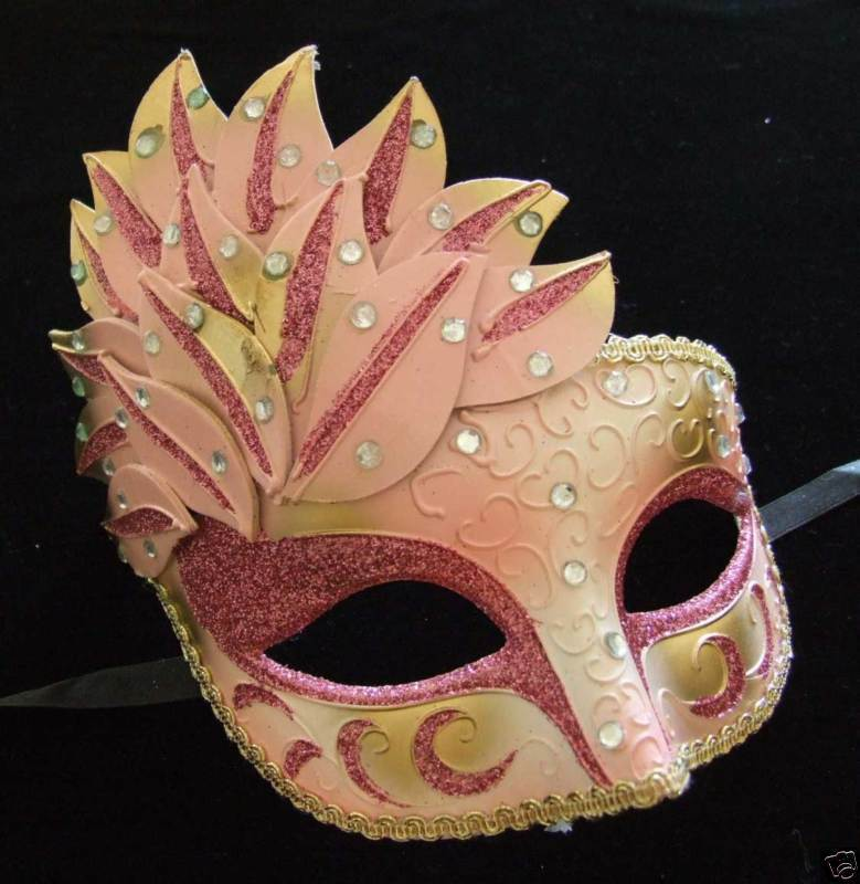 Venetian Masquerade Ball Party Mask PRETTY IN PINK Mardi ...