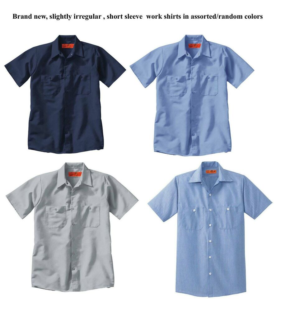 Sale wholesale lot 12 asst new uniform work shirt u pic for Red kap mechanic shirts