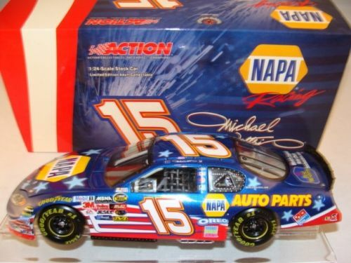 15 michael waltrip 2004 napa auto parts stars stripes free shipping 1 24 ebay. Black Bedroom Furniture Sets. Home Design Ideas