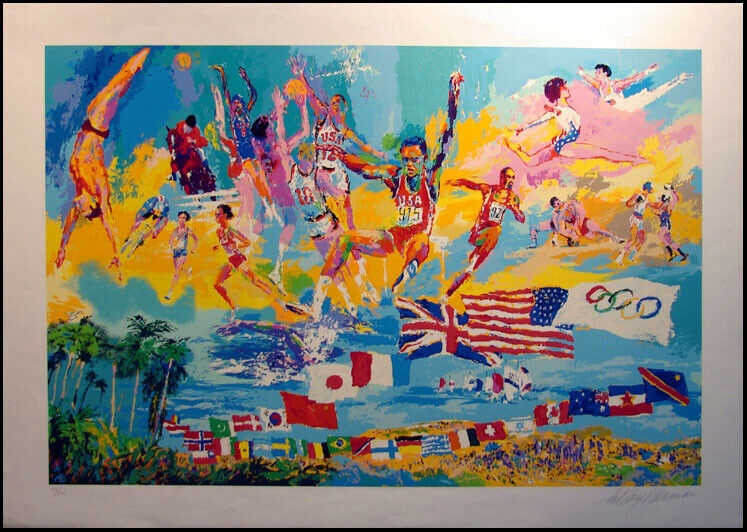 LeROY Neiman American Gold Olympic Medalist, original hand ...