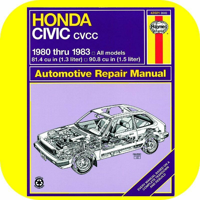 Repair Manual Book Honda Civic 1300 1500 80