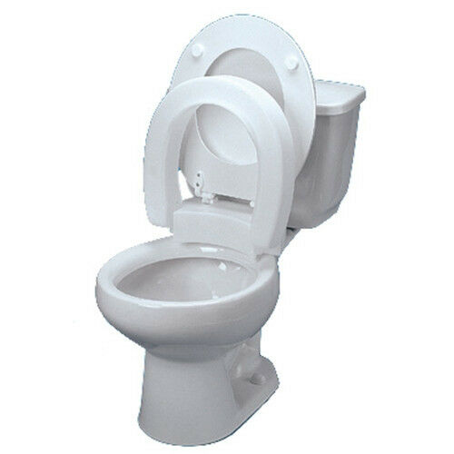 Hinged Elevated Toilet Seat Riser Ebay