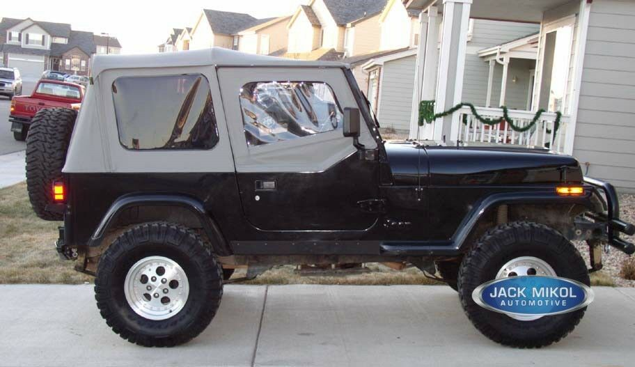 Jeep Wrangler Replacement Soft Top >> JEEP WRANGLER REPLACEMENT SOFT TOP with UPPER SKINS - GRAY | eBay